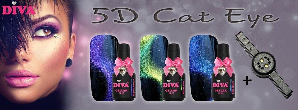 5D Cateye   3-delige collectie   gratis magneet